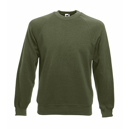Fruit of the Loom - Classic Sweatshirt 'Raglan Sweat' L,Classic Olive