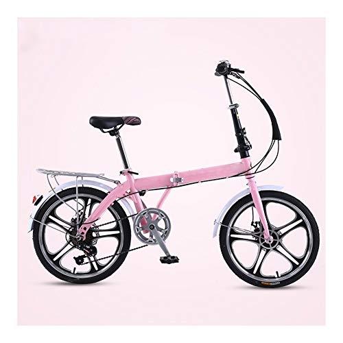 mächtig der welt VIVIANE Fahrrad, pink, Mini Faltrad, 7-Gang, Stoßdämpfung, superleicht, 20 Zoll,…