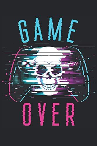 Game Over: Cuaderno de juegos - 120 páginas rayadas para anotar pensamientos,...