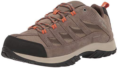 Columbia Men's Crestwood Waterproof Hiking Shoe, Pebble, Desert Sun, 12