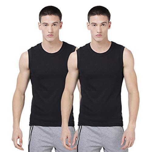 Levi's Men's 100 CA Regular Fit Solid Vest (#014-VEST-BLK/BLK-P2, Black_M)