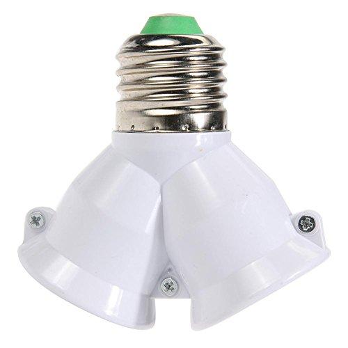 Globeagle 2 en 1 casquillo de bombilla convertidor E27 enchufe divisor adaptador de lámpara base de bombilla soporte soporte