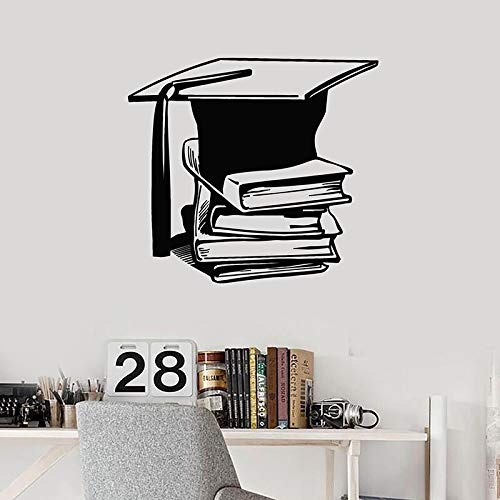 Calcomanía educativa para pared, libros, biblioteca, ciencia, escuela, sala de lectura, decoración interior, tapa académica, puertas y ventanas, pegatina de vinilo, Mural