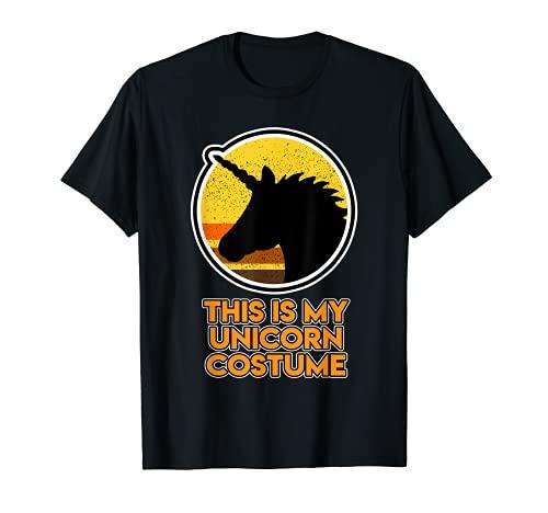 Este es mi disfraz de unicornio para nias, unicornio de Halloween Camiseta