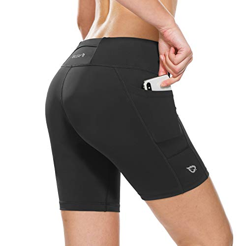 BALEAF Women's 7 Inches Workout Running Shorts Yoga Comprssion Shorts Side...