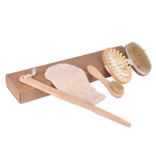 Propre salle de bain Accessoires écologique en bambou massage longue poignée récurage corps Soins de la peau naturelle Brosse de Matériel fiable