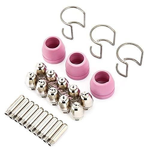 AG-60 26pc//set AG60 SG55 Cortador de Plasma Punta de antorcha de corte Consumibles Boquillas de electrodo Kit de tazas para antorcha SG55