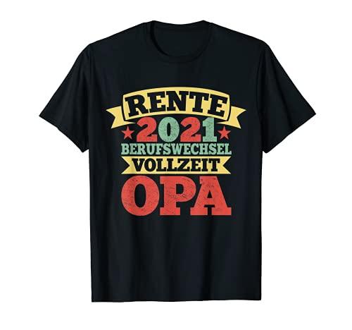 Herren Lustiger Ruhestand Spruch Rentner Opa Großvater Geschenk T-Shirt