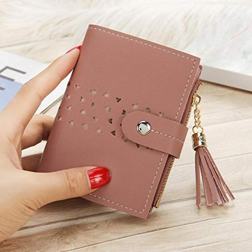 Regen Effen portemonnee kleine portemonnee vrouwen leer kwast hasp korte portemonnee vrouwen munt portemonnee kaart Houders Handtas