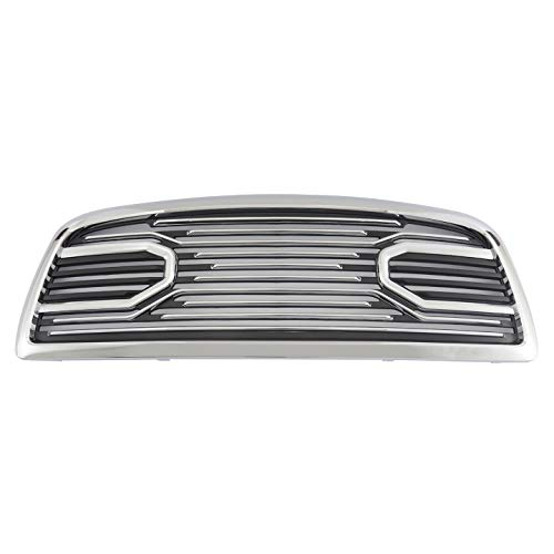Paragon Front Grille for 2010-18 Dodge Ram 2500/3500 - Chrome/Matte RAM Style Grill Grilles with Mesh
