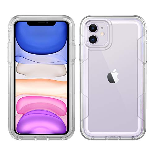 Pelican iPhone 11 Case, Voyager Series – Military Grade Drop Tested – TPU, Polycarbonate Protective Case for Apple iPhone 11 (Clear)