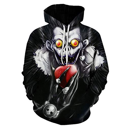 YOYOSHome Anime Death Note Hoodie Sweatshirt Jacket Costume Pullover Fleeces Adult Cosplay
