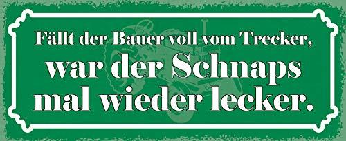 Deko7 metalen bord 27 x 10 cm valt de Bauer vol van Trecker, was de schnaps weer lekker