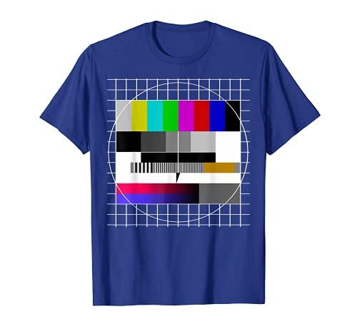 80er 90er Jahre Party Analoger Fernseher Testbild Outfit T-Shirt