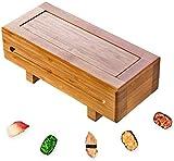 DUDDP Cocina Molde Sushi del Fabricante del Molde, Molde del Sushi de bambú, Oshi Maker for Hacer Oshi Sushi, Sushi de bambú Rectangular Press, Estilo japonés (Color : Bamboo)