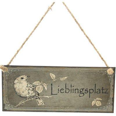 Blechschild Dekoschild Lieblingsplatz Vintage