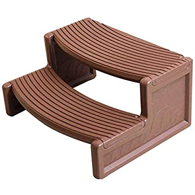 Confer Plastics Resin Multi Purpose Spa and Hot Tub Handi-Step Steps, Medium Red