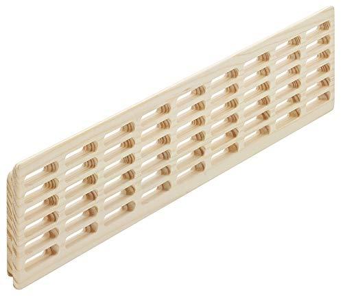 Lüftungsgitter Tür-Gitter Massiv-Holz Abluftgitter Fichte | Belüftungsgitter eckig | 550 x 100 mm | Türlüftung zum Einlassen | MADE IN GERMANY | 1 Stück - Holz-Gitter für Möbel & Heizkörper & Türen