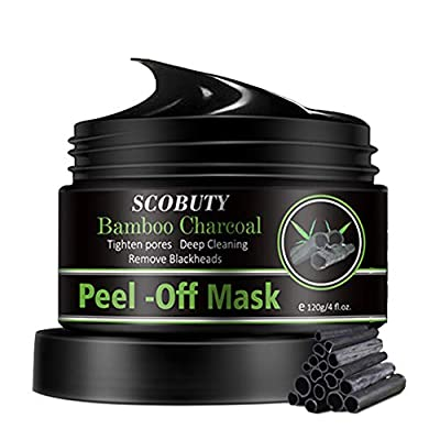 Charcoal Face Masks,Blackhead Remover Mask,Black Face Mask Peel Off,Bamboo Charcoal Peel Off Mask,Activated Carbon Mask Deep Cleansing Blackhead Face Mask