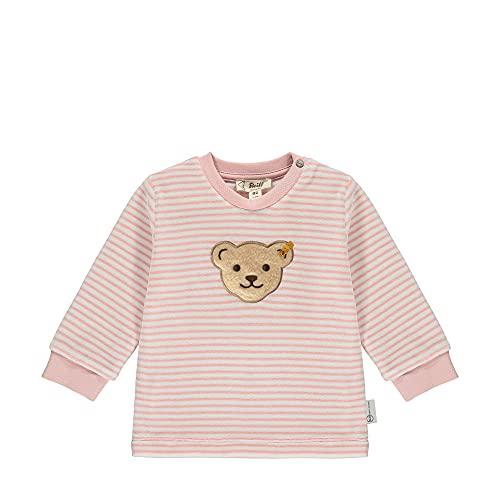 Steiff Sweatshirt Sudadera, Color Rosa Plateado, 9 Mes Unisex bebé