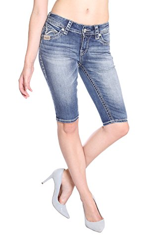 Blue Monkey Damen Jeans Shorts Paige 3944 Size 26