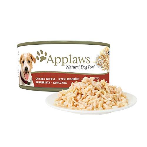 Applaws Perro y Pollo con Lata de arroz, Paquete múltiple, 156 g, Paquete de 18