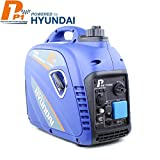 P1 Power Equipment 'ECO' P2500i Portable Inverter Generator 2200W, 2KW, - 230V UK Plug, USB & 12v DC Charging,  - Blue