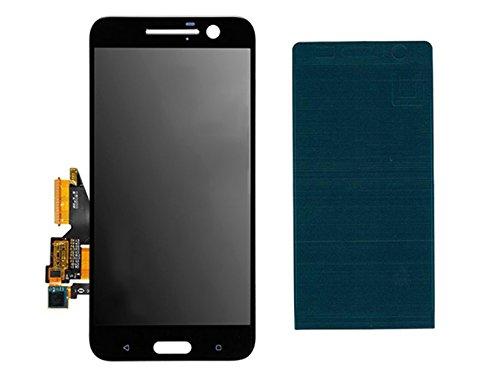 Handyteile24 ✅ LCD Bildschirm Anzeige Display Digitizer Touch Touchscreen Glas Schwarz mit Klebestreifen für HTC One 10 M10
