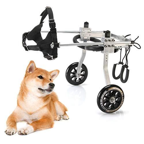 Hunderollstuhl |Der ursprüngliche Hunde-Rollstuhl |Tierarzt etabliert |Für behinderte Hunde von S nach L, für Rehabilitation der Hinterbeine (Size : Medium)