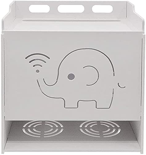 Consola de TV de estantes flotantes, soporte de enrutador WiFi de tres capas, caja de transmisión de medios de comunicación