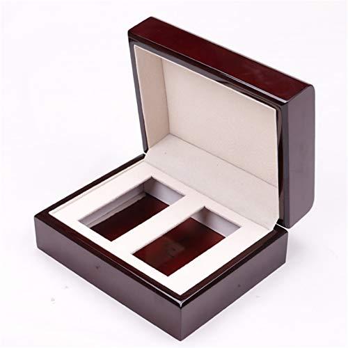 MAATCHH Caja de Reloj Pintura tirón Caja de Reloj de joyería Artesanal de Regalo Caja de presentación Portátil (Color : Wine Red, Size : One Size)