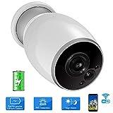VIGICA sans Fil Caméra Sécurité Batterie Rechargeable WiFi Surveillance IP Caméra Etanche...
