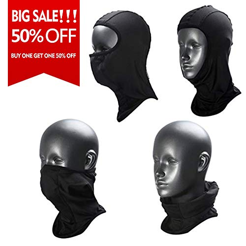 Weanas Balaclava - Windproof Ski Mask - Cold Weather Face Mask Motorcycle Neck Warmer - Tactical Balaclava Hood - Super Comfy Hypoallergenic Moisture Wicking (Black-L)