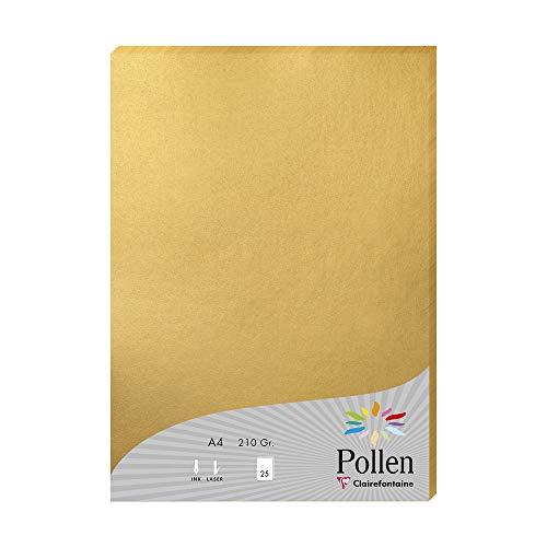 Clairefontaine Pollen Briefpapier, 21x 29,7cm 210 g gold