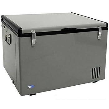 Whynter FM-85G 85 Quart Portable Fridge AC 110V/ DC 12V True Freezer for Car Home Camping RV-8°F to 50°F One Size Gray