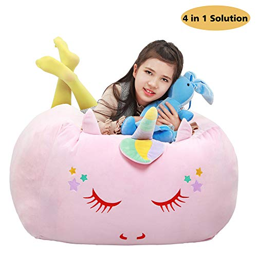 Unicorn Stuffed Animal Toy Storage,Large Size Storage...