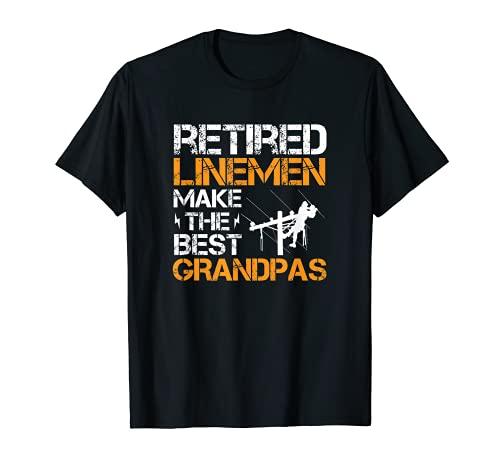Hombre Retirado Lineman hace el mejor abuelo - Electricista Camiseta
