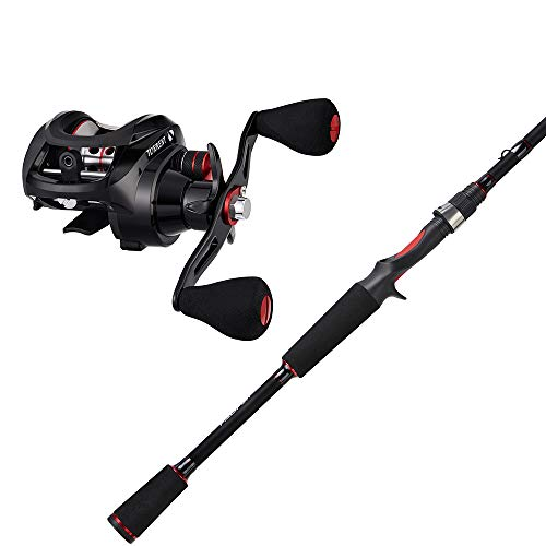 Piscifun Torrent Baitcasting Reels Bundle with One Piece Baitcasting Rods