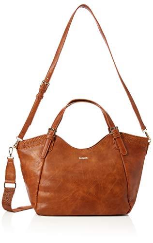 Desigual - Bols_dark Amber Rotterdam, Shoppers y bolsos de hombro Mujer, Amarillo (Camel), 15x30x31 cm (B x H T)