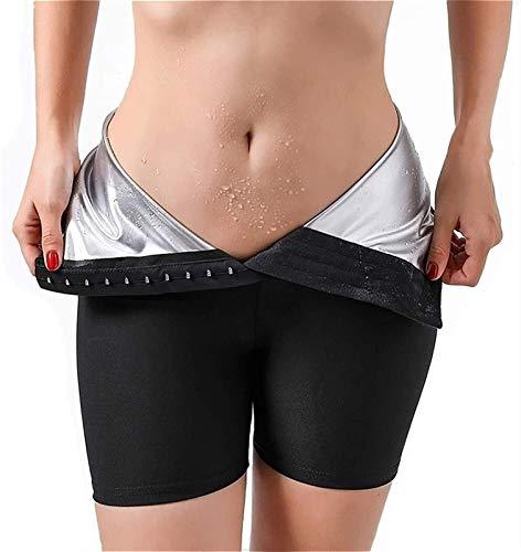 LQQSD Sauna Sweat Shapewear Shorts para Adelgazar Cintura Alta para Mujer Pantalones De Sauna, Fajas para El Control La Barriga Pantalones Cortos Neopreno para Adelgazar (Color : Black, Size : XL)
