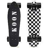 KO-ON Skateboards 22 Inch Complete Mini Cruiser Skateboard for Beginner Boys and Girls (Check)