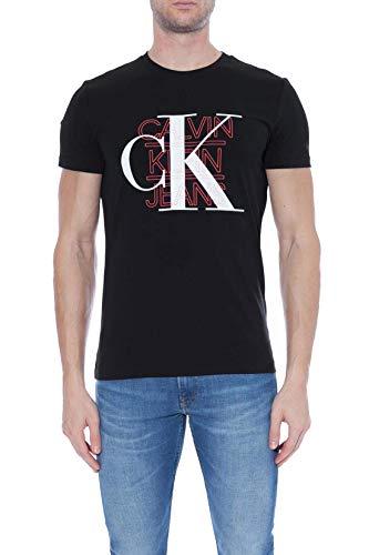 Calvin Klein Graphic Slim Stretch Tee Camicia, CK Nero, S Uomo