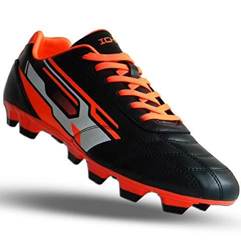 ICHNOS Downforce FG Firm Ground football boots Black Orange White (6 UK)