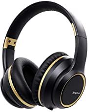 Noise Cancelling Headphones Wireless Bluetooth 5.0, Srhythm 2020 Version NC15 Folding Over Ear Headset with Microphones for Online Class/Home Office/TV/PC/Cell Phone