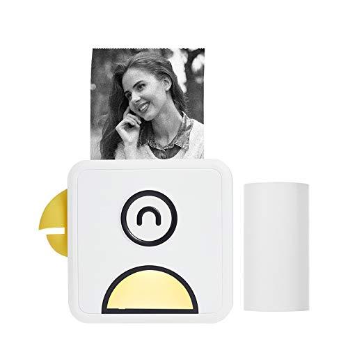 Aibecy mini stampante, Stampante fotografica termica tascabile 200 dpi Portatile BT Wireless Etichetta per ricevute Etichetta per Elenchi Stampa diario Compatibile con Android iOS Poooli L1