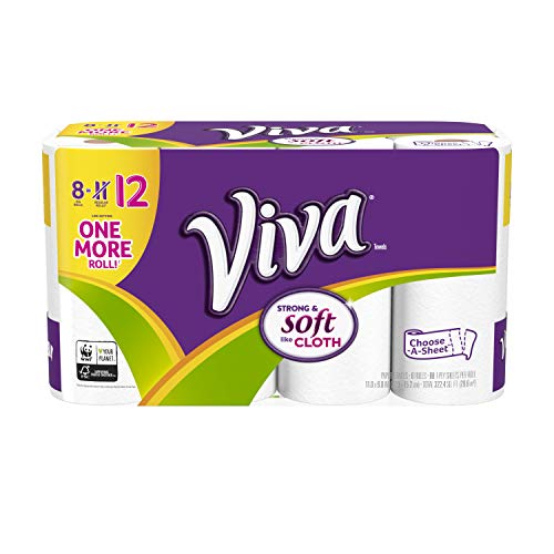 Viva Paper Towels, Choose-A-Sheet, White, 8 Big Rolls (1)