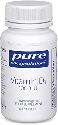 Pure Encapsulations - Vitamin D3 1,000 IU - Hypoallergenic Pure Vitamin D Supplement - 60 Capsules