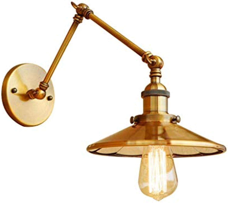 Wandleuchte, Vintage Wandleuchte Rustikal Land Retro Swing Arm Lights Metall Wandleuchte Für Wohnzimmer Schlafzimmer Korridor Treppen Nachtlicht