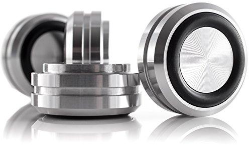 Hifi Lab Aluminium Füße massiv 30x14 Silber Audio Geräte-Füße Alu Absorber 4X