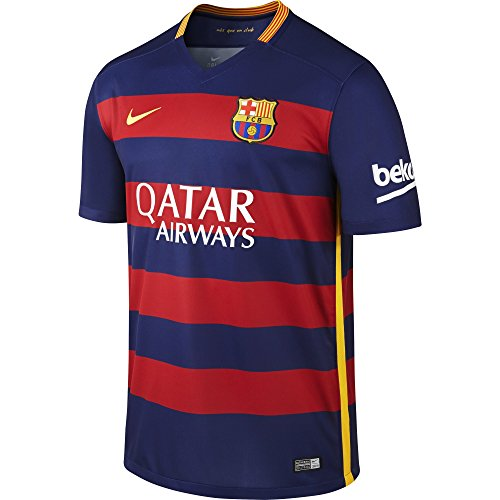 NIKE Herren Kurzarm Trikot FC Barcelona Home Stadium, Loyal Blue/Storm Red/University Gold, XL